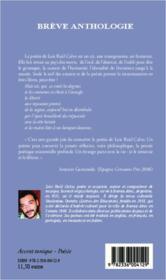 Brève anthologie ; bilingue Francais-Espagnol - 4ème de couverture - Format classique