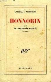 Honnorin Ou Le Mauvais Esprit. - Couverture - Format classique