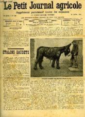 LE PETIT JOURNAL AGRICOLE N° 865 - Etalons baudets (E.Joubert). - Couverture - Format classique
