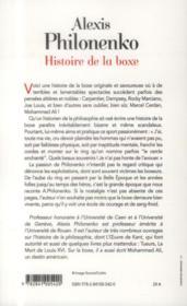 Histoire de la boxe - 4ème de couverture - Format classique
