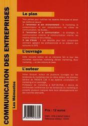 Communication des entreprises - 4ème de couverture - Format classique