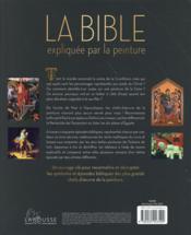 La Bible expliquée par la peinture - 4ème de couverture - Format classique