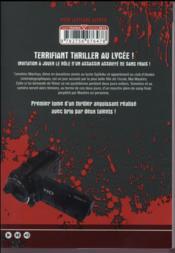 Dead tube T.1 - 4ème de couverture - Format classique