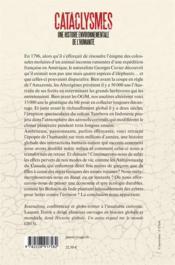 Cataclysmes ; une histoire environnementale de l'humanité - 4ème de couverture - Format classique