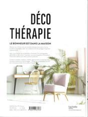Déco thérapie - 4ème de couverture - Format classique