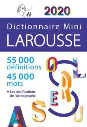 Dictionnaire Larousse mini (édition 2020) - Couverture - Format classique