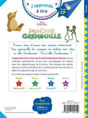 La Princesse et la grenouille - 4ème de couverture - Format classique