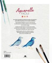 Aquarelle facile : peindre la nature au crayon - 4ème de couverture - Format classique