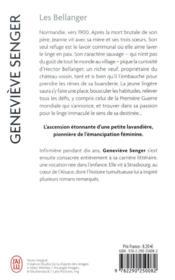 Les Bellanger T.1 - 4ème de couverture - Format classique