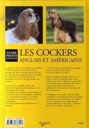Les cockers anglais et américains - 4ème de couverture - Format classique