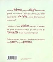 Tartares carpaccios - 4ème de couverture - Format classique
