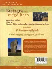 La bretagne des mégalithes - 4ème de couverture - Format classique