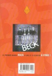 Beck t.18 - 4ème de couverture - Format classique
