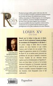 Louis XV - 4ème de couverture - Format classique