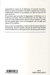 Cles Pour Litterature. Sa Nature, Ses Modalites, Son Histoire - 4ème de couverture - Format classique