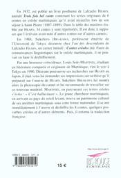 Contes créoles II - 4ème de couverture - Format classique