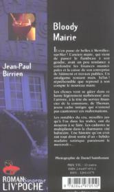 Bloody mairie - 4ème de couverture - Format classique