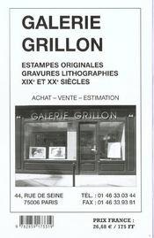 Cote des dessins 2002 - 4ème de couverture - Format classique