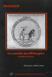 La comédie des philosophes et autres textes - Intérieur - Format classique