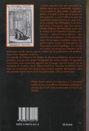 La comédie des philosophes et autres textes - 4ème de couverture - Format classique