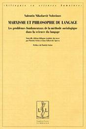 Marxisme et philosophie du langage - Couverture - Format classique