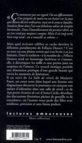La première gorgée de sperme et autres textes - 4ème de couverture - Format classique