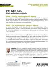 L'iso 14001 facile ; réussir sa démarche de certification t.1 et t.2 - 4ème de couverture - Format classique