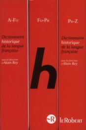 Dictionnaire historique de la langue française ; coffret - 4ème de couverture - Format classique