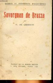 Savorgnan De Brazza - Couverture - Format classique