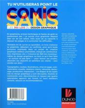 Tu n'utiliseras point le comic sans ; les 365 lois du design graphique (2e édition) - 4ème de couverture - Format classique