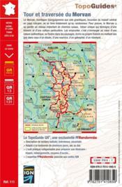 Tour et traversée du Morvan : GR 13, GR 131 (11e édition) - 4ème de couverture - Format classique