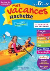 Mes vacances Hachette ; de la 6e à la 5e - Couverture - Format classique