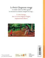 Le Petit Chaperon rouge - 4ème de couverture - Format classique