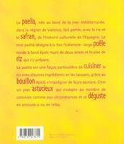 Paellas - 4ème de couverture - Format classique