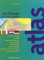 Atlas de l'europe et de l'union europeenne - Intérieur - Format classique