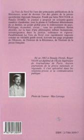 Poing A La Ligne ; La Voix Du Nord, 1941-1944 - 4ème de couverture - Format classique