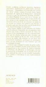 Léonard de vinci - 4ème de couverture - Format classique