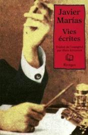 Vies écrites - Couverture - Format classique