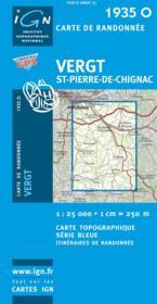 Vergt ; St-Pierre-de-Chignac - Couverture - Format classique