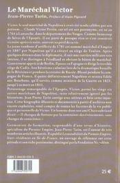 Le maréchal Victor duc de Bellune ; loyal sous Napoléon, fidèle sous la Restauration - 4ème de couverture - Format classique