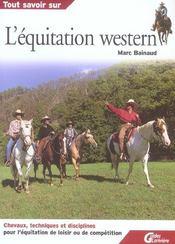 L'equitation western - Intérieur - Format classique
