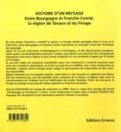 Entre Bourgogne Et Franche Comte , Histoire D'Un Paysage - 4ème de couverture - Format classique