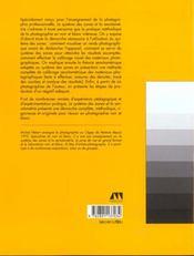 Systemes des zones et la sensitometrie - 4ème de couverture - Format classique