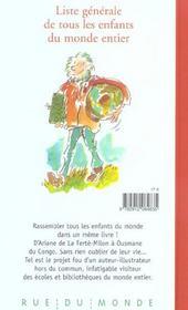 Liste Generale De Tous Les Enfants Du Monde Entier - 4ème de couverture - Format classique