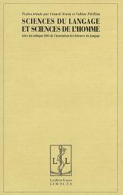 Sciences du langage et sciences de l'homme - Couverture - Format classique