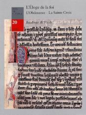 L Eloge De La Foi Et Deux Sermons - Couverture - Format classique