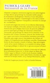 Naissance de la France ; le monde mérovingien - 4ème de couverture - Format classique