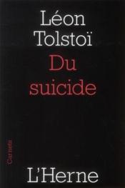 Du suicide - Couverture - Format classique