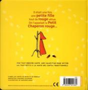 Mon tout premier conte t.3 ; le petit chaperon rouge - 4ème de couverture - Format classique
