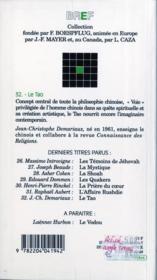 Le tao - 4ème de couverture - Format classique